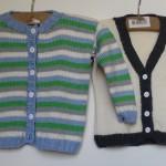 hjemmestrikkede trøjer til mindre børn