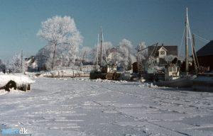 Arkiv billeder fra Fejø, isvinter, Dybvig Havn