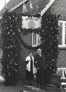 Arkiv billeder fra Fejø, Rudolf og Frederikke Petersens guldbryllup