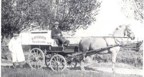 Arkiv billeder fra Fejø, Rudolf Petersen, slagter Rudolf