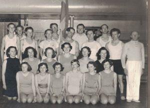 Arkiv billeder fra Fejø, gymnastikopvisning