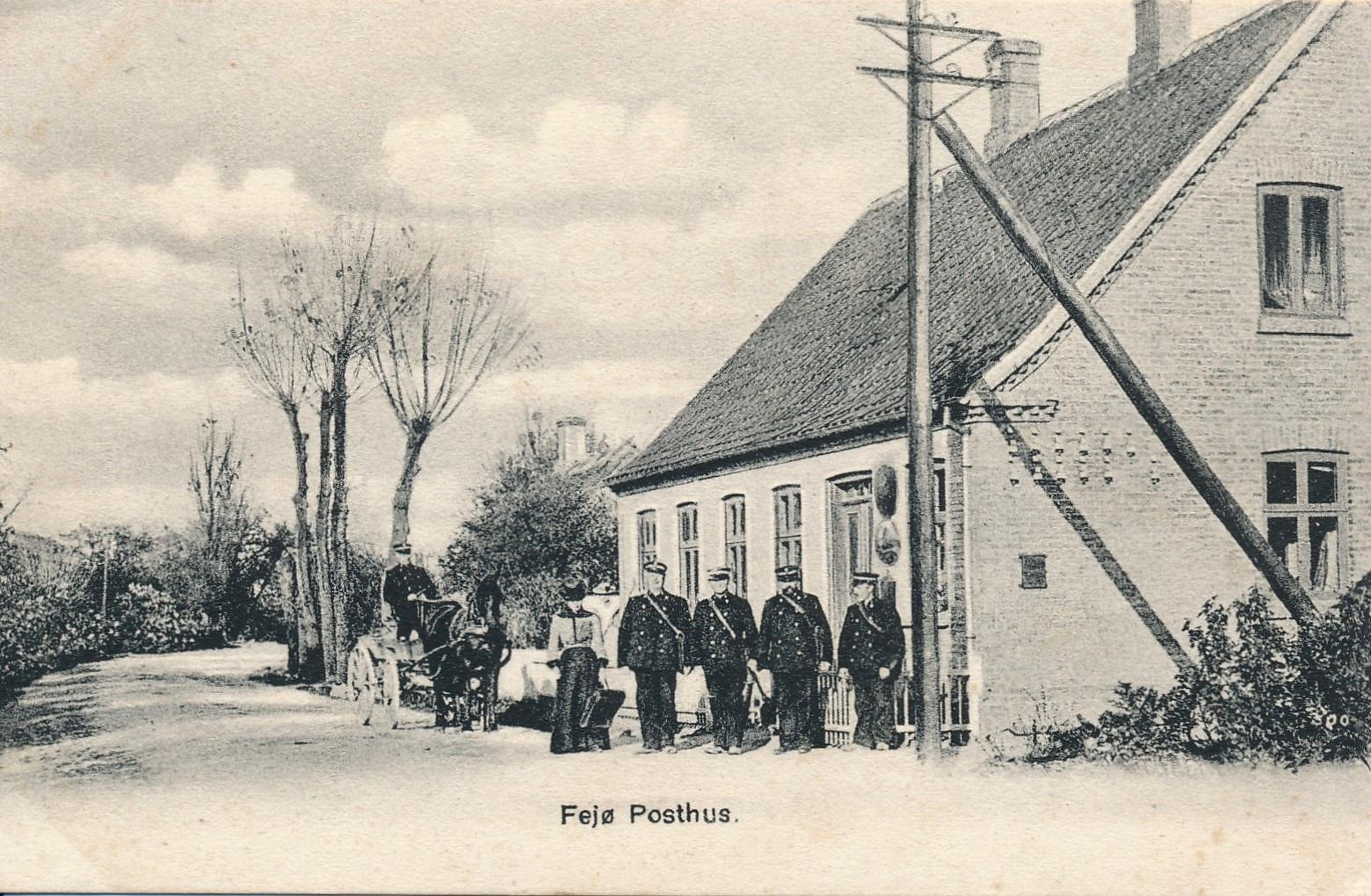 Posthuset, Herredsvej 264, Østerby, Fejø, postkort, cirka 1910