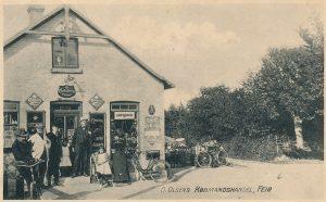 Arkiv billeder fra Fejø, Ole Olsens købmandsforretning, Vesterby