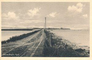 Arkiv billeder fra Fejø, dæmningen mellem Fejø og Skalø