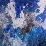 en sejltur på en gletsjersø gav inspiration til dette maleri af isbjerge