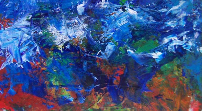 Seltun er en del af af Reykjanes naturreservat. I maleriet er der lagt vægt på det sprudlende vand mellem det boblende mudder.