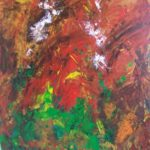 Alferne bor i mange af bjergene og man kan se i bjergsiderne, her har jeg malet et alfebjerg