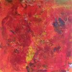 Rød er kærlighedens farve, ikke så mærkeligt at det maleri føles dragende
