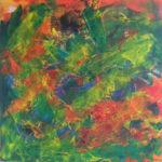 En ren farvesymfoni, glæde og livsenergi stråler uf fra dette maleri