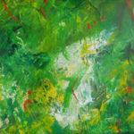 mange grønne nuancer indgår i dette finurlige maleri