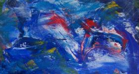 Havet er levested for mange dyre- og plantearter, dejligt blåt maleri