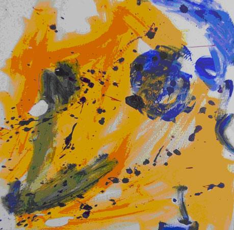 selv efter det værste vulkanudbrud skinner solen dagen efter, her gengivet med et akrylmaleri